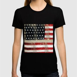 USA Flag ~ American Flag ~ Distressed Pattern ~ Ginkelmier Inspired T-shirt