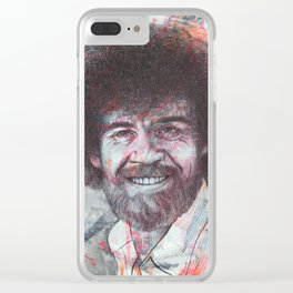 Bob Ross - Just Happy Little Accidents Clear iPhone Case