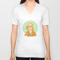 tenenbaum V-neck T-shirts featuring Margot Tenenbaum by Galaxyspeaking
