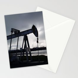 Oil Beam Pump New Plymouth Habour Stationery Cards