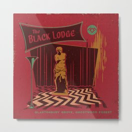 THE BLACK LODGE Metal Print