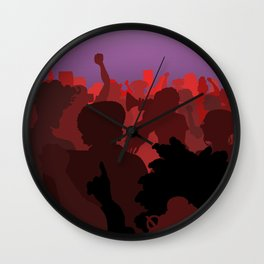 Women Marching (Red Version) Wall Clock