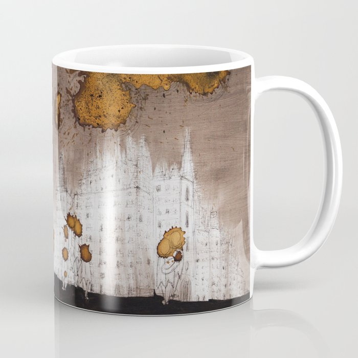 Expresso Head and the Coffee Clouds Coffee Mug