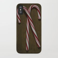 Candy Canes iPhone X Slim Case