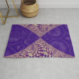 Intersection of abstract purple fractal forms Rug