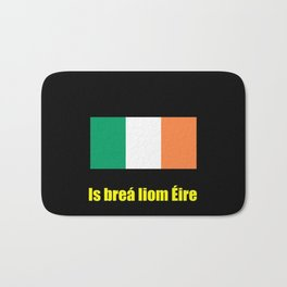 flag of ireland 8 -ireland,eire,airlann,irish,gaelic,eriu,celtic,dublin,belfast,joyce,beckett Bath Mat