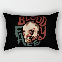 Bloody Face Rectangular Pillow