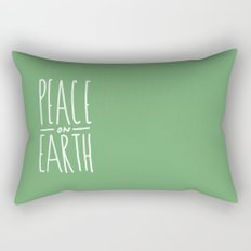 Peace on Earth (Green) Rectangular Pillow