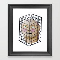 trap of thinking Framed Art Print