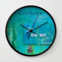 Knockin on Heavens Door Wall Clock