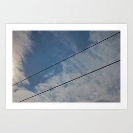 clouds and wire, abstract, no.03 Art Print