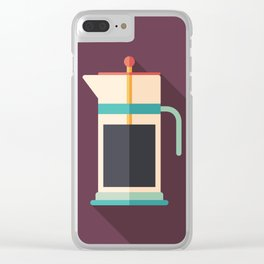 French Press Coffee Clear iPhone Case