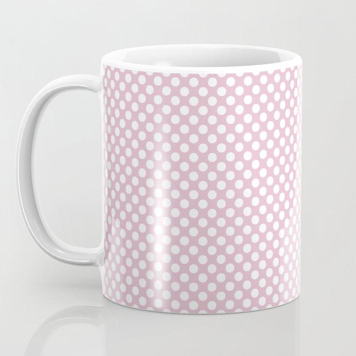 Pink Mist and White Polka Dots Coffee Mug