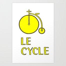 Le Cycle Art Print