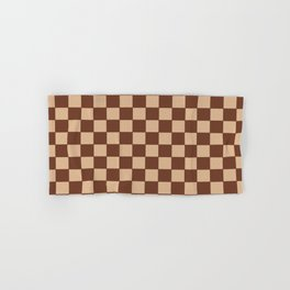 Checkers - Brown and Beige Hand & Bath Towel