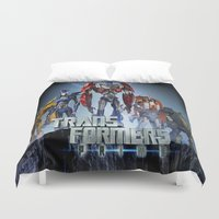 transformers Duvet Covers featuring Transformers Prime by giftstore2u