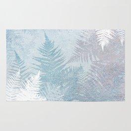 Fern Snowflakes - Taupe, Aqua & Blues Rug