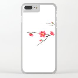 red Japan begonia Clear iPhone Case