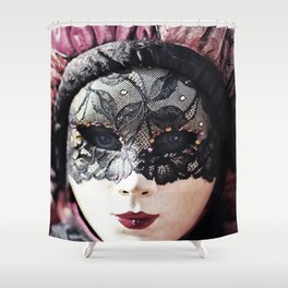 Italy Venice Mask 4 woman Shower Curtain