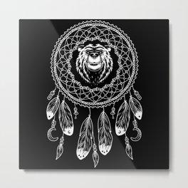 Zodiac Native American Bear Metal Print