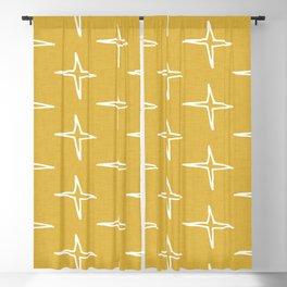 Nautical Star Mustard #homedecor Blackout Curtain