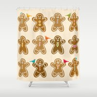 ginger Shower Curtains featuring Ginger by Kakel