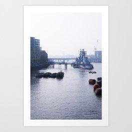 London - RT [Portrait] Art Print