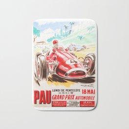 Grand Prix Pau, vintage poster, car t-shirt, car poster Bath Mat