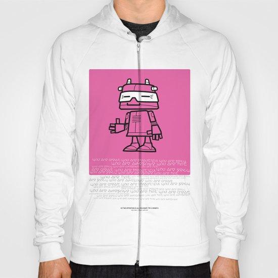 Ze Robot, Pink :) Hoody