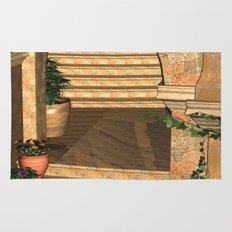 Old Town Stairs and Arches Rug