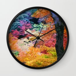 Magical Autumn Wall Clock