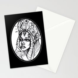 Monster Black and White Stationery Cards