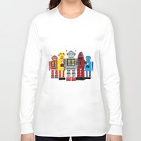 robots Long Sleeve T-shirts featuring robots by notbook