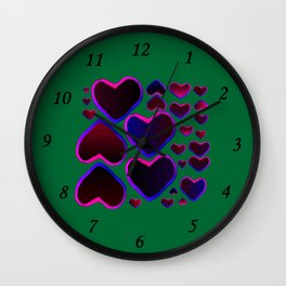 Heart in the countryside Wall Clock