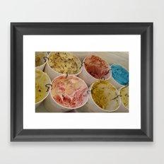 Ice Cream Galore Framed Art Print