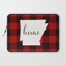 Arkansas is Home - Buffalo Check Plaid Laptop Sleeve
