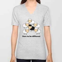 Dare To Be Different Black Sheep Unisex V-Neck