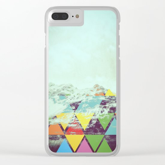 Triangle Mountain Clear iPhone Case