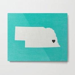 Nebraska Love Metal Print