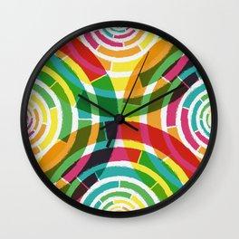 Colorful shouts Wall Clock