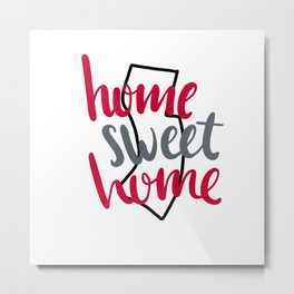Home Sweet Home New Jersey Metal Print