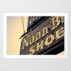 Nunn Shoes Art Print