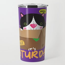 Caturday Series: Midnight Travel Mug