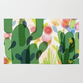 cacti life | Happy modern art | Wall art and  cubicle decor Rug