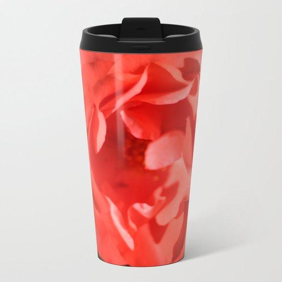 Rose - Red Metal Travel Mug