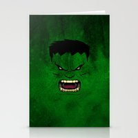 monster inc Stationery Cards featuring Monster Green by Inara