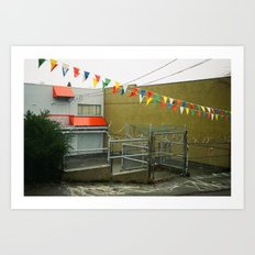 Vancouver Alley and Dealership Flags Art Print