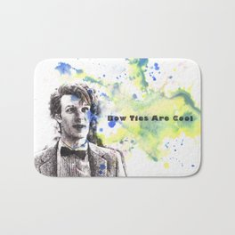 Doctor Who 11th Doctor Matt Smith Bow Ties Are Cool Bath Mat