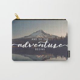 Trillium Adventure Begins - Nature Photography Carry-All Pouch