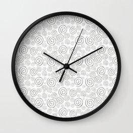 """Swirls/Rulitos"" Wall Clock"